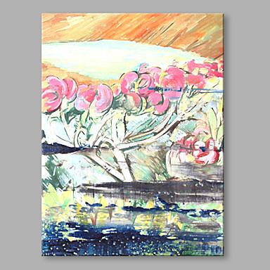 Pintura a Óleo Pintados à mão - Floral / Botânico Vintage Tela de pintura