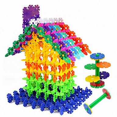 Approx 300PCS 3cm Interlocking Assembly Snowflake Building Blocks DIY Early Educational Construction Toys Set Kid Model Designer Jigsaw Toys Kit