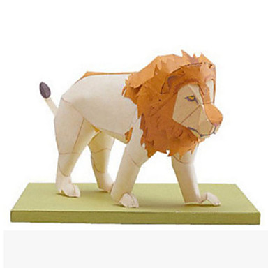 3D-puslespill Papirmodell Papirkunst Modellsett Kvadrat Løve 3D Dyr simulering GDS Klassisk Tenåring Unisex Gave