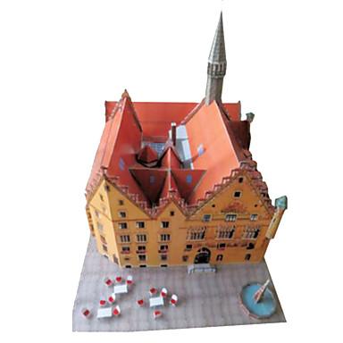 3D-puslespill Papirmodell Papirkunst Modellsett Kvadrat Kjent bygning Arkitektur 3D GDS Hardt Kortpapir Klassisk Unisex Gave