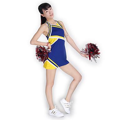 Cheerleader Costumes Dresses Women's Performance Knitwear Splicing Sleeveless High Dress