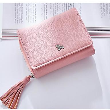 Women Coin Purse PU All Seasons Square Clasp Lock Blue Black Blushing Pink