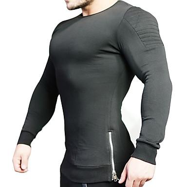 Calças de Corrida Respirabilidade Confortável Casual Moletom Exercício e Atividade Física Corrida Exterior Algodão Preto M L XL XXL