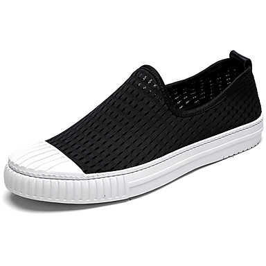 Men's Shoes PU Spring Fall Comfort Loafers & Slip-Ons for Outdoor White Black