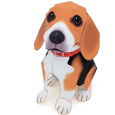 Quebra-Cabeças 3D Maquetes de Papel Artesanato de Papel Brinquedos de Montar Quadrada Cachorros Animais Simulação Faça Você Mesmo