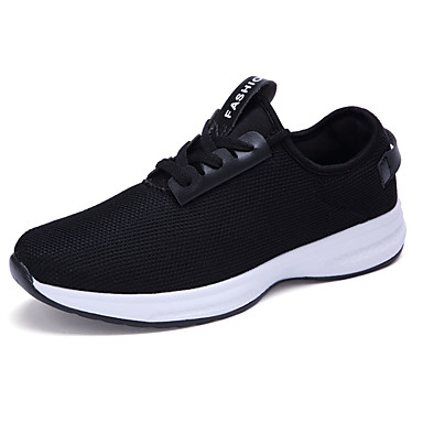 Men's Shoes Tulle Spring Fall Comfort Sneakers Lace-up for Outdoor White Black Dark Blue