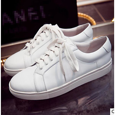 Women's Shoes PU Summer Comfort Sneakers For Casual White Black