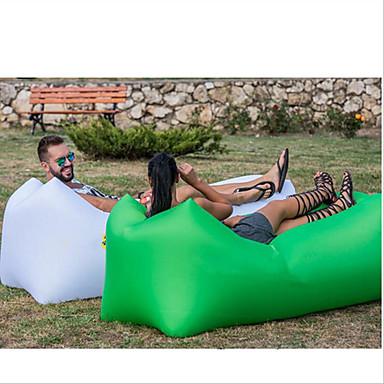 Oppustelig sofa / Luftsofa / Luftmadras Udendørs Camping Vandtæt, Bærbar, Fugtsikker Design-Ideel Sofa Oxford Campering & Vandring, Strand, Rejse for 1 Person