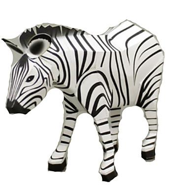 Quebra-Cabeças 3D Maquetes de Papel Artesanato de Papel Brinquedos de Montar Cavalo Zebra Animais Simulação Faça Você Mesmo Cartão de