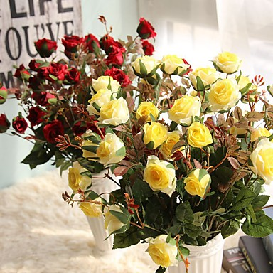 Artificial Flowers 1 Branch Pastoral Style Others / Roses Tabletop Flower