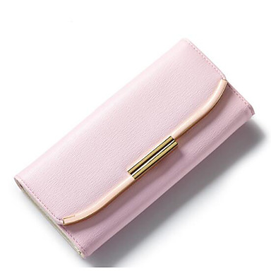 Women Coin Purse PU Polyester All Seasons Casual Outdoor Rectangle Magnetic Blushing Pink Fuchsia Light Purple