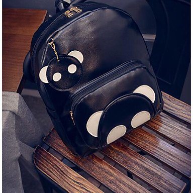 Women's Bags PU Backpack for Casual All Seasons Black