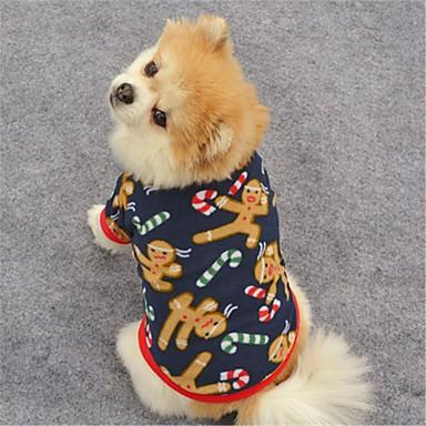 Gato Cachorro Casacos Camiseta Moletom Roupas para Cães Rena Azul Escuro Marron Lã Polar Ocasiões Especiais Para animais de estimação