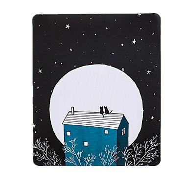 nuori nainen myöhä joukon kissojen art tuoreuden kuvittaja hiirimaton luonnonkumia kangasta 20 * 23,8