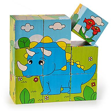 Quebra-Cabeças 3D Quebra-Cabeça Quadrada 3D De madeira Madeira Crianças Dom