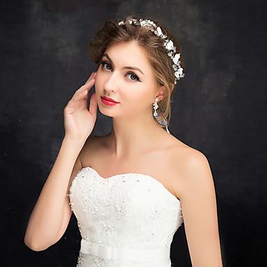 krystall organza tiaras headband headpiece klassisk feminin stil