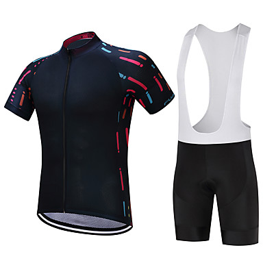 FUALRNY® Cycling Jersey with Bib Shorts Men's Short Sleeves Bike Clothing Suits Bike Wear Quick Dry Moisture Permeability 4D Pad