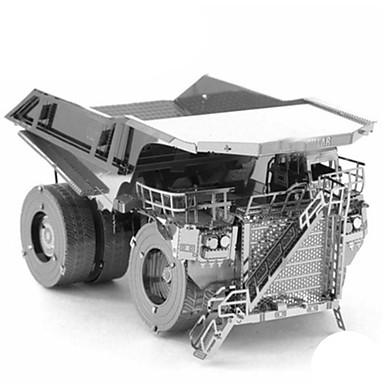 Lekebiler 3D-puslespill Metallpuslespill Trailer 3D GDS Chrome Metall Klassisk Truck Entreprenørmaskiner Bulldoser Unisex Gave