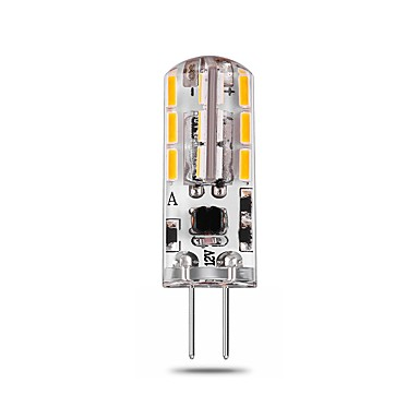 2.5W G4 LED Bi-pin Lights T 24 LEDs SMD 4014 Decorative Warm White Natural White White 140-150lm 2800-6500K AC/DC 12V