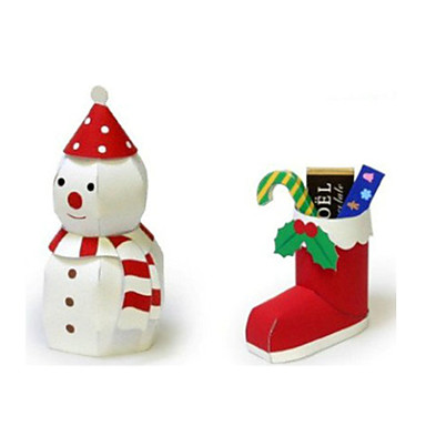 voordelige 3D-puzzels-3D-puzzels Bouwplaat Modelbouwsets Sneeuwman DHZ Inrichting artikelen Klassiek Unisex Speeltjes Geschenk
