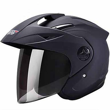 Halvhjelm Slimfit Kompakt Pustende Beste kvalitet Sport ABS Motorsykkel Hjelmer