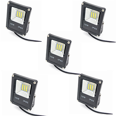 5pcs 10W LED Floodlight Waterproof Decorative Outdoor Lighting Warm White Cold White 12-80V