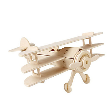 3D Puzzles Jigsaw Puzzle Wood Model Plane / Aircraft Fighter Famous buildings Architecture 3D DIY Card Paper Wood Classic Unisex Gift