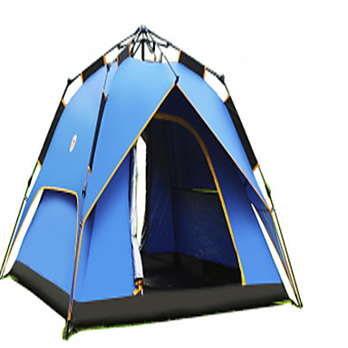 CAMEL 3-4 persons Tent Double Camping Tent One Room Automatic Tent Well-ventilated Waterproof Rain-Proof Dust Proof Foldable for Camping