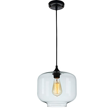 Pendant Light Ambient Light Glass Glass Mini Style, Adjustable, Designers 110-120V / 220-240V Bulb Not Included / E26 / E27