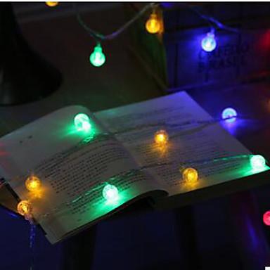 10m Cordões de Luzes 100 LEDs LED Dip Branco Quente / RGB 100-240 V / IP44