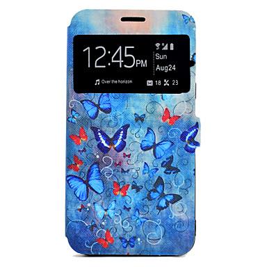 Capinha Para Samsung Galaxy J7 (2016) J5 (2016) Porta-Cartão Com Suporte Estampada Capa Proteção Completa Borboleta Rígida PU Leather para