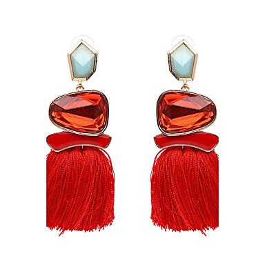 Women's Tassel Drop Earrings - Luxury, Tassel, Punk Green / Blue / Pink For Party Graduation Daily / Oversized