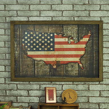 Wall Decor Wooden Artistic Retro Wall Art,1
