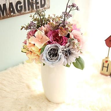 Artificial Flowers 1 Branch Wedding Flowers Hydrangeas / Roses Tabletop Flower