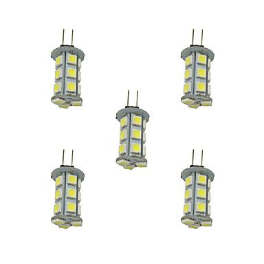 2.5W G4 LED-lamper med G-sokkel 18 leds SMD 5050 Varm hvit Hvit 198lm 3000-3500/6000-6500K DC 12V