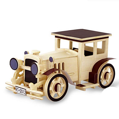 Toy Car 3D Puzzles Jigsaw Puzzle Wood Model Dinosaur Tank Plane / Aircraft Truck 3D Animals DIY Wood Classic Kid's Unisex Gift