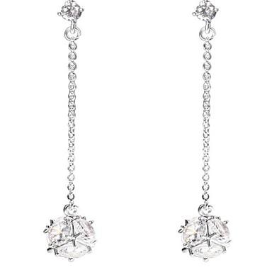 Dame Dråpeøreringer Krystall Hengende Legering Geometrisk Form Smykker Til Bryllup Bursdag Formell