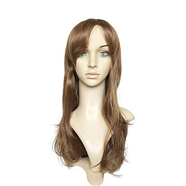 Synteettiset peruukit Vesiaalto Ruskea Naisten Suojuksettomat Luonnollinen peruukki Pitkä Synteettiset hiukset