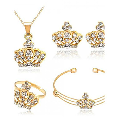 Women's Jewelry Set - Crown Fashion, Euramerican Include Gold For Party / Daily