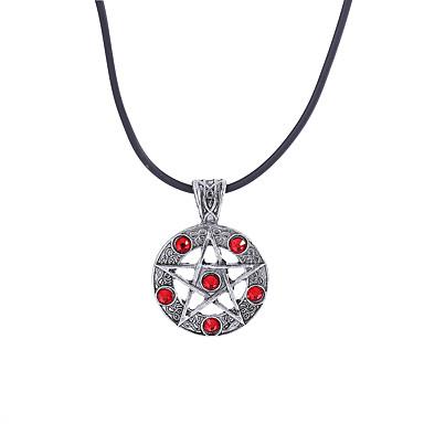 Homens Diamante sintético Colares com Pendentes - Strass Estrela Luxo, Original, Pingente Preto, Vermelho Colar Para Noivado, Presente, Cerimônia