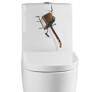 Autocolantes de Parede Decorativos Autocolantes de Medição Autocolantes de Banheiro - Autocolantes de Aviões para Parede Formas 3D