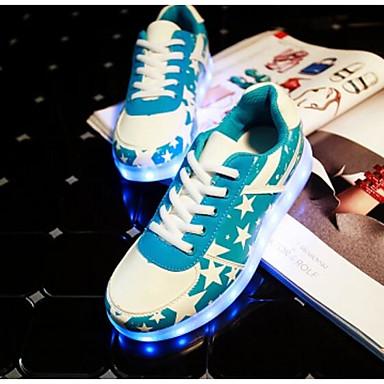 Unisex Sneakers Comfort Summer PU Casual Gold Silver Light Blue Flat