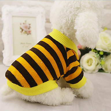 Dog Vest Dog Clothes Stripe Yellow Red Blue Pink Cotton Costume For Pets Men's Women's Casual / Daily
