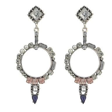 Women's Drop Earrings Rhinestone Personalized Luxury Circular Unique Design Dangling Style Classic Tassel Vintage Bohemian Basic