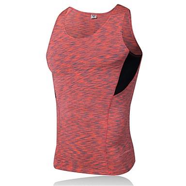 Miesten Juoksutoppi Hihaton Fitness, Juoksu & Yoga Nopea kuivuminen Urheilu Hihaton Topit varten Juoksu Retkeily ja vaellus Pyöräily