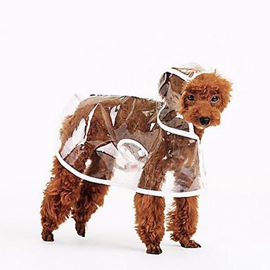 Hund Regnfrakk Hundeklær Ensfarget Hvit Oransje Grønn Akryl Fiber Kostume For kjæledyr Sommer Herre Dame Fritid / hverdag