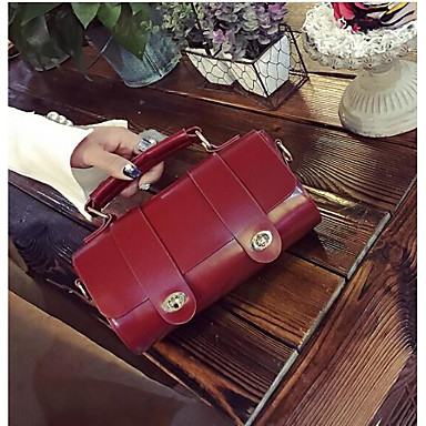 Women Shoulder Bag Polyester All Seasons Casual Outdoor Cylinder Clasp Lock Red Brown Arm Green