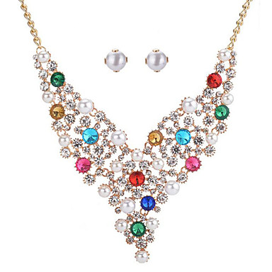 Women's Jewelry Set - Heart Fashion Include Bridal Jewelry Sets White / Rainbow / Blue For Wedding Event / Party Dailywear