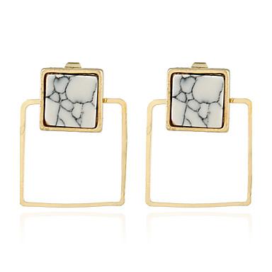 Women's Hoop Earrings Personalized Hip-Hop Rock Punk Metal Alloy Resin Jewelry Gift Club Date Costume Jewelry