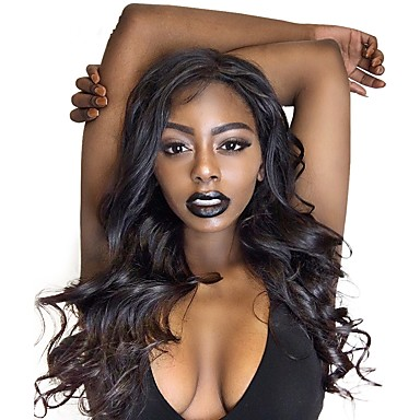 Glueless Lace Front Human Hair Wigs Body Wave Natural Color Brazilian Remy Hair Wigs For Black Women With Baby Hair